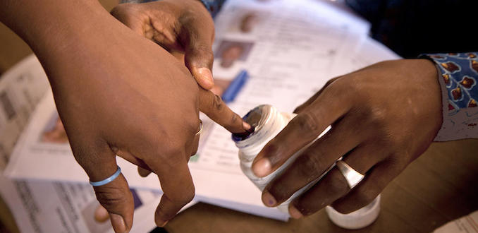 Malians voted for the 2013 presidential elections at the Ecole de la Republique in Bamako. Photo MINUSMA/Marco Dormino