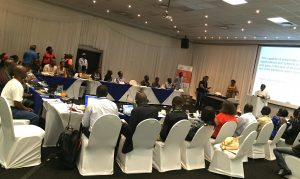 Participants at a workshop on Resilience organised by African Media Initiative with support from Rockefeller Foundation