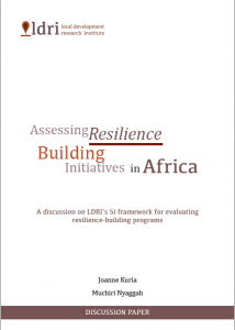 Assessing Resilience Building Initiatives in Africa