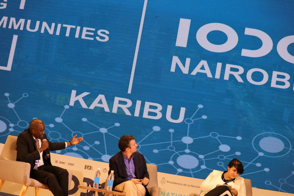 Image of the IODC 2018 closing panel where the announcement about Kenya hosting the next conference was made by Dr Korir Sing'oei, Head of Law and Policy in the Office of the Deputy President in the Republic of Kenya.